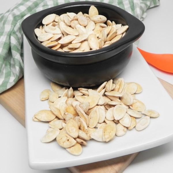 air fryer salt and vinegar pumpkin seeds photos