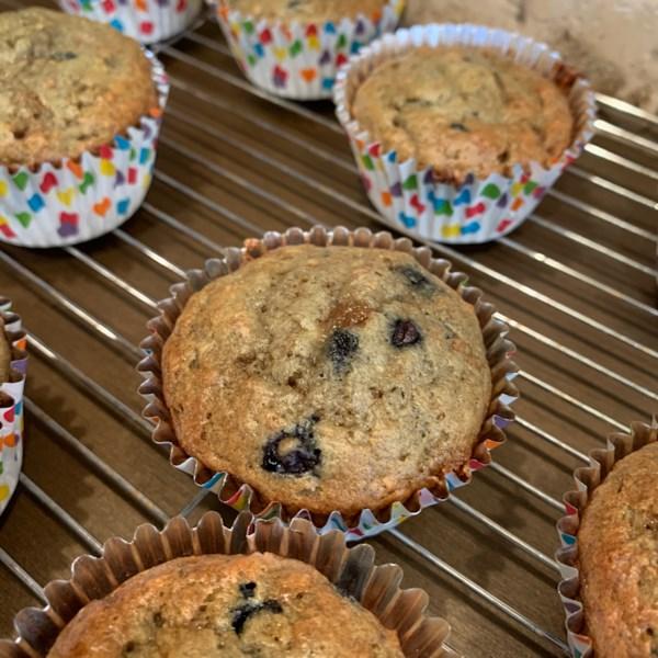 banana bran muffins photos