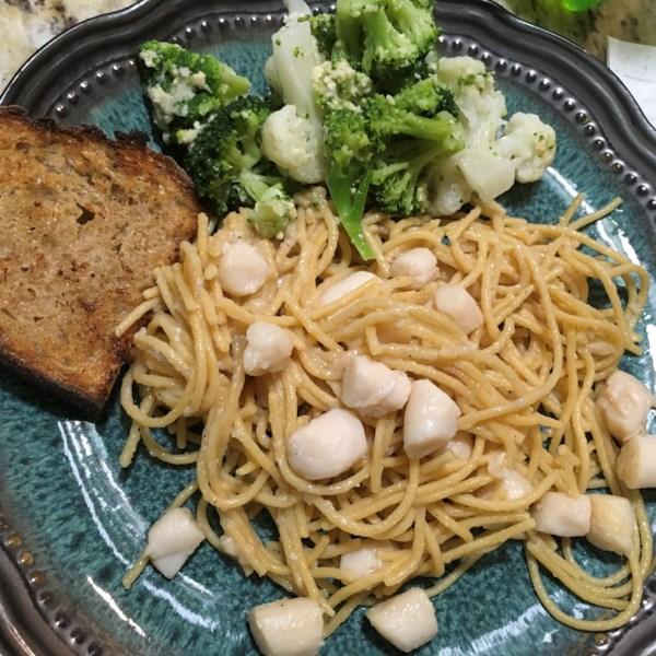 easy garlic lemon scallops photos
