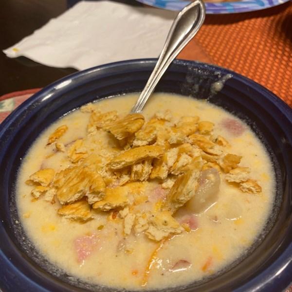 golden potato soup photos
