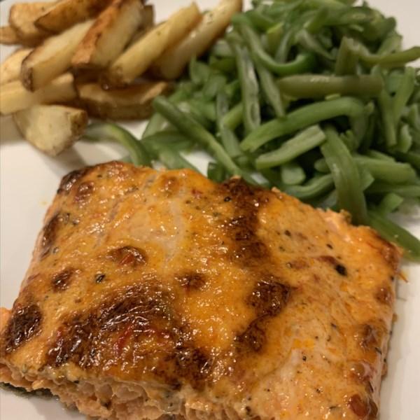 salmon with harissa photos