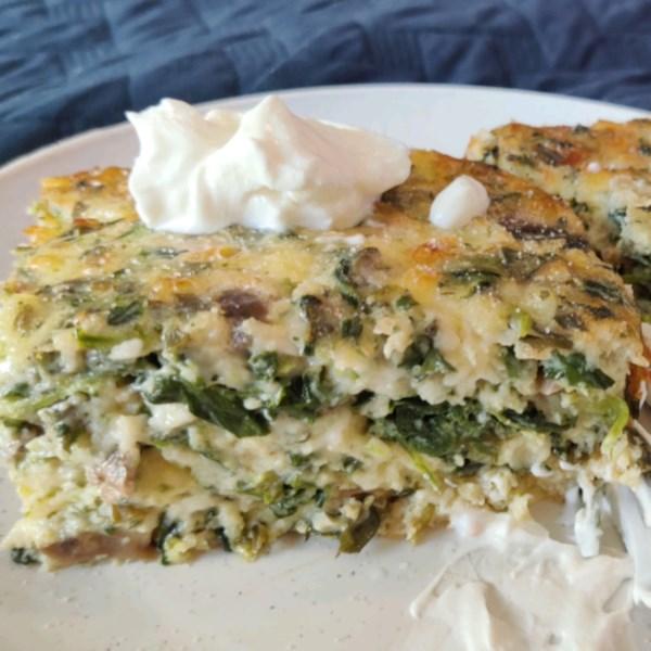 spinach and mushroom egg casserole photos