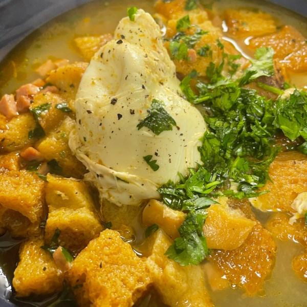 chef johns spanish garlic soup sopa de ajo photos