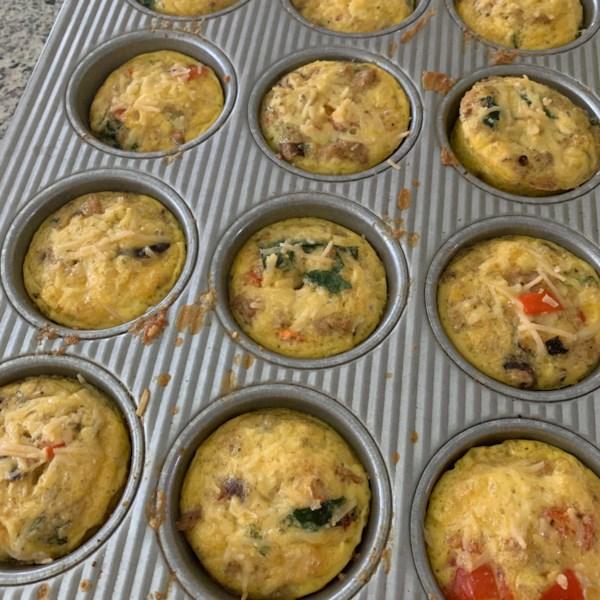scrambled egg muffins photos