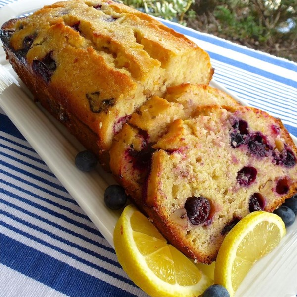 lemon blueberry bread photos