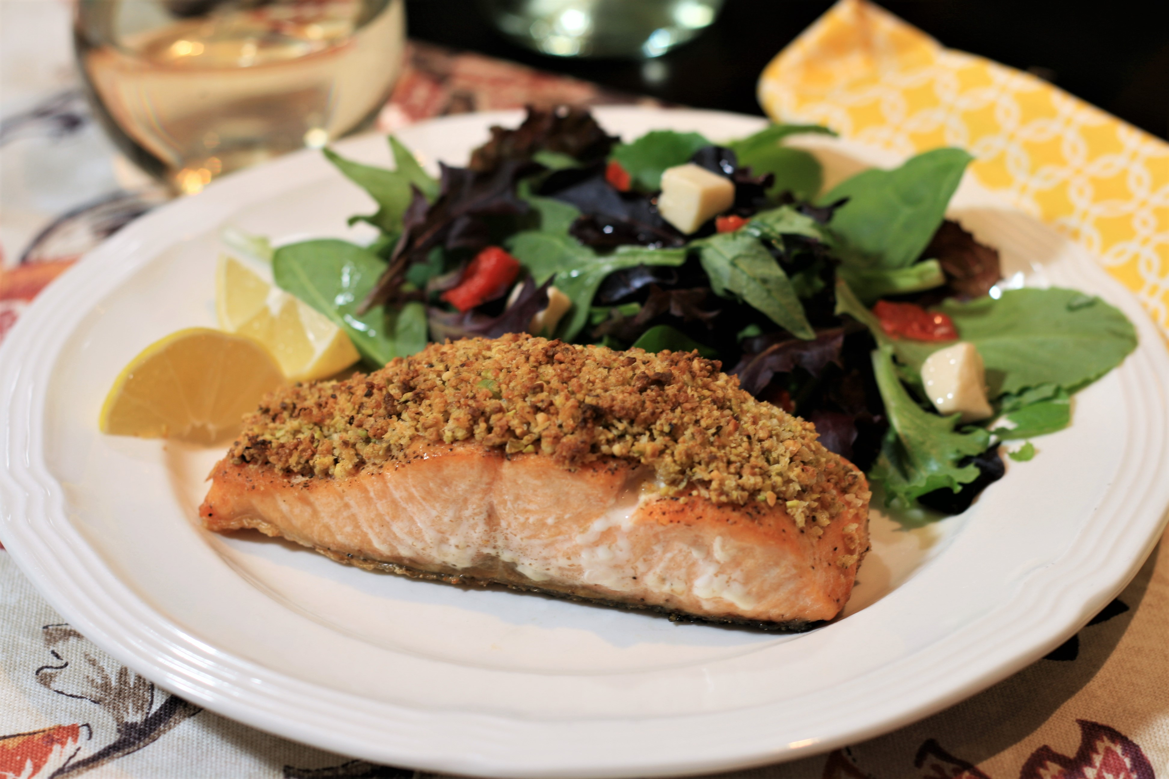 Pistachio-Crusted Salmon image