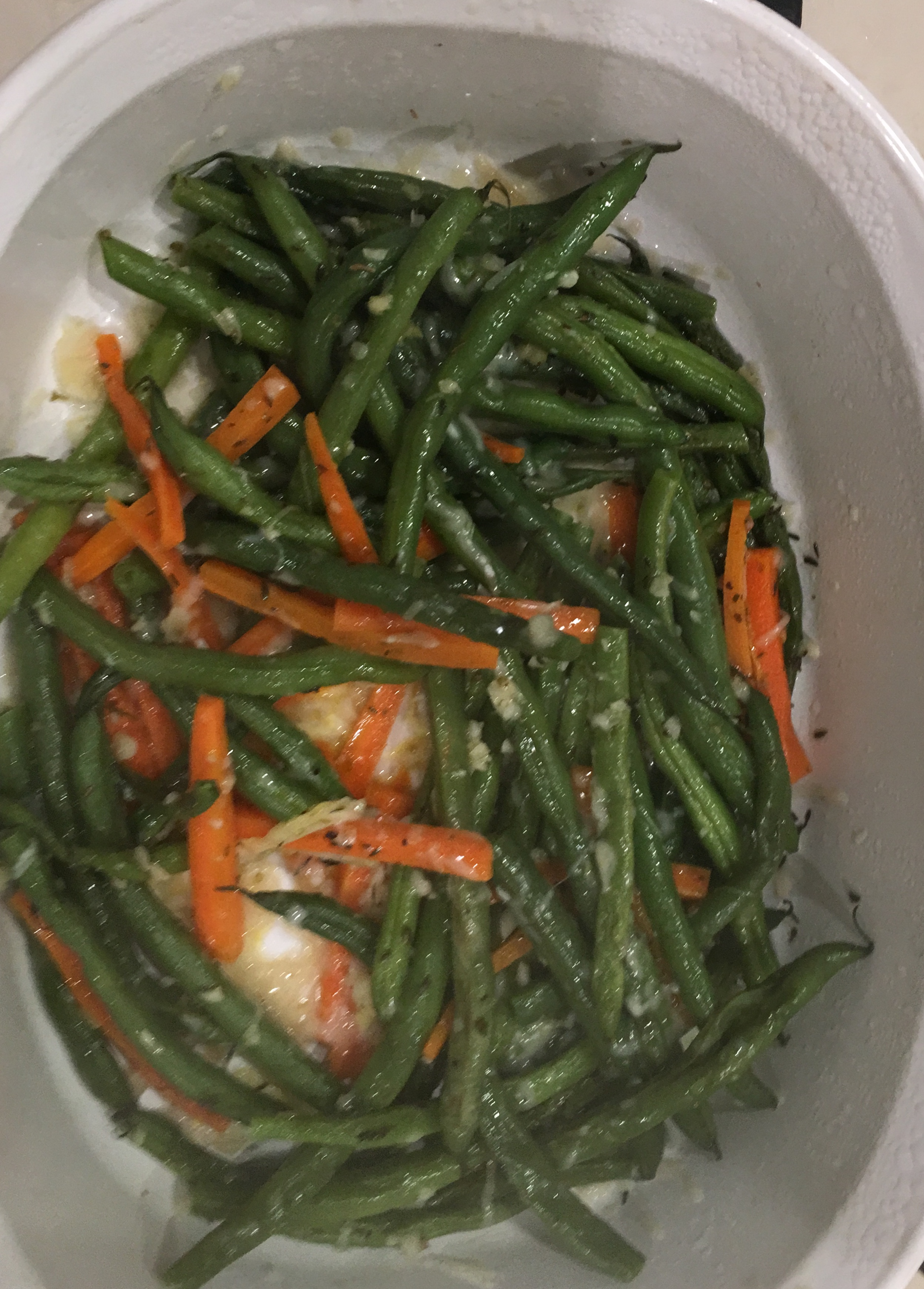 Italian Green Beans with Blue Cheese