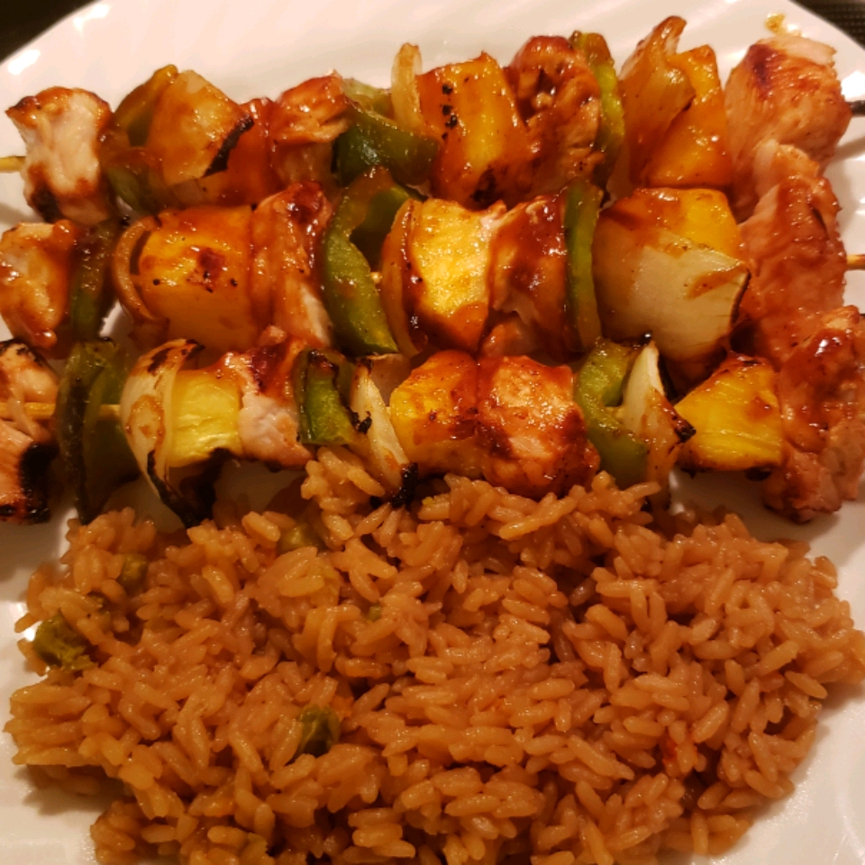 Ultra Easy Pineapple Chicken Kabobs