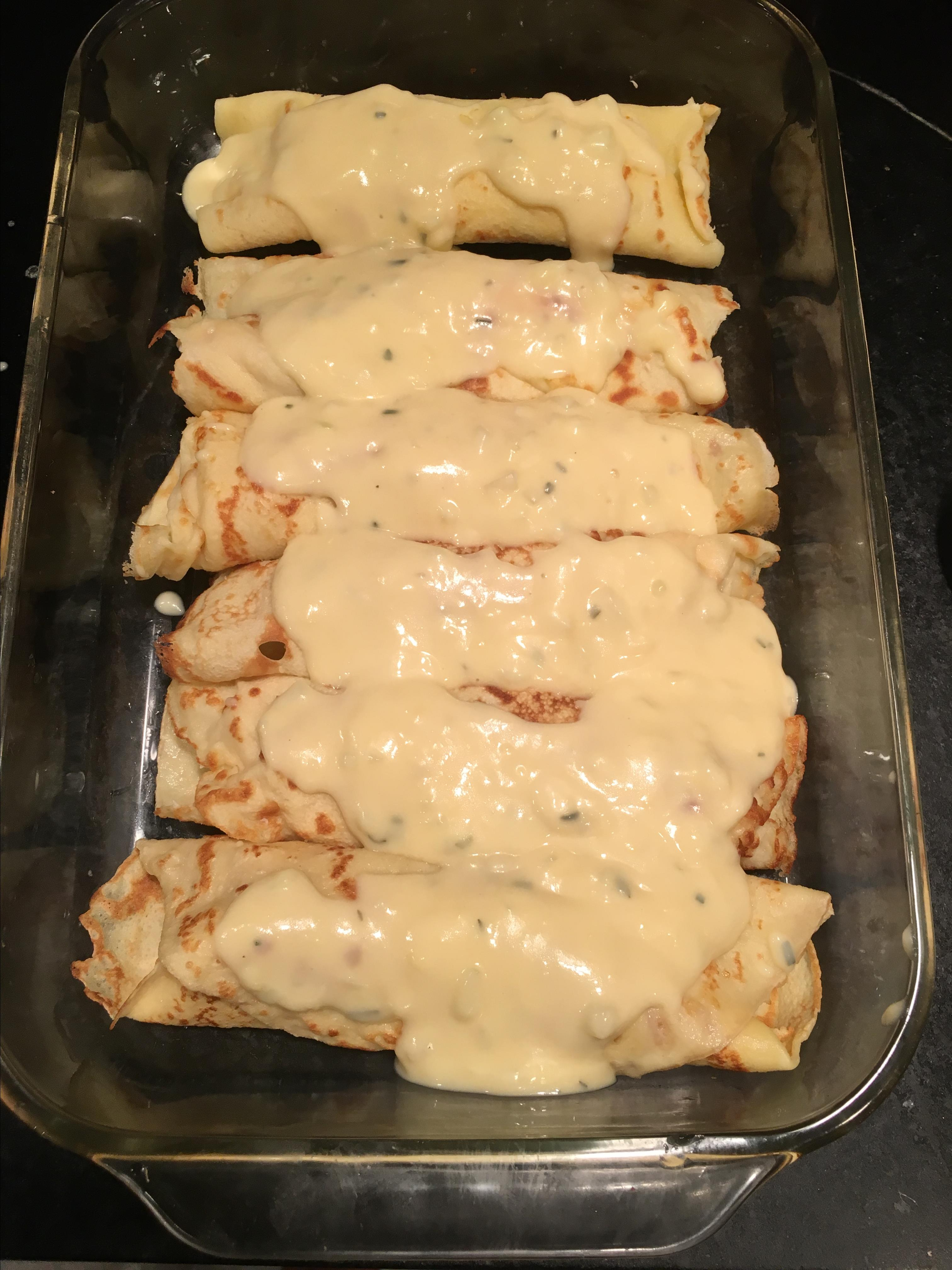 Chicken or Turkey Crepes with Tarragon Lisa