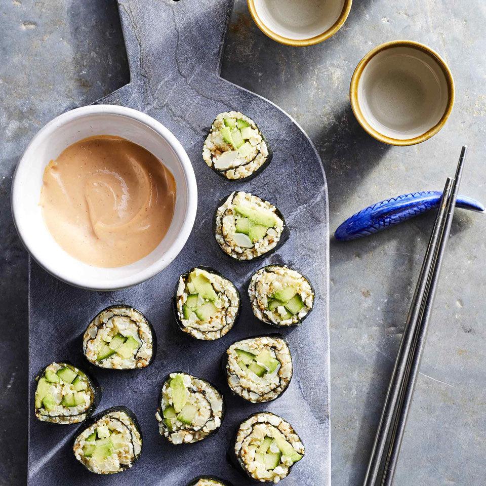 Cucumber-Avocado Cauliflower Rice Sushi Carolyn Casner