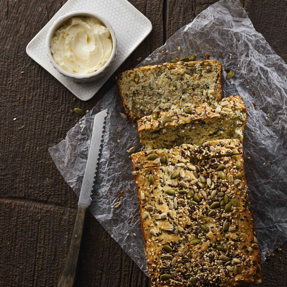 Low-Carb Seeded Quick Bread Carolyn Casner