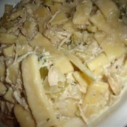 Great-Aunt Nina's Noodles and Chicken