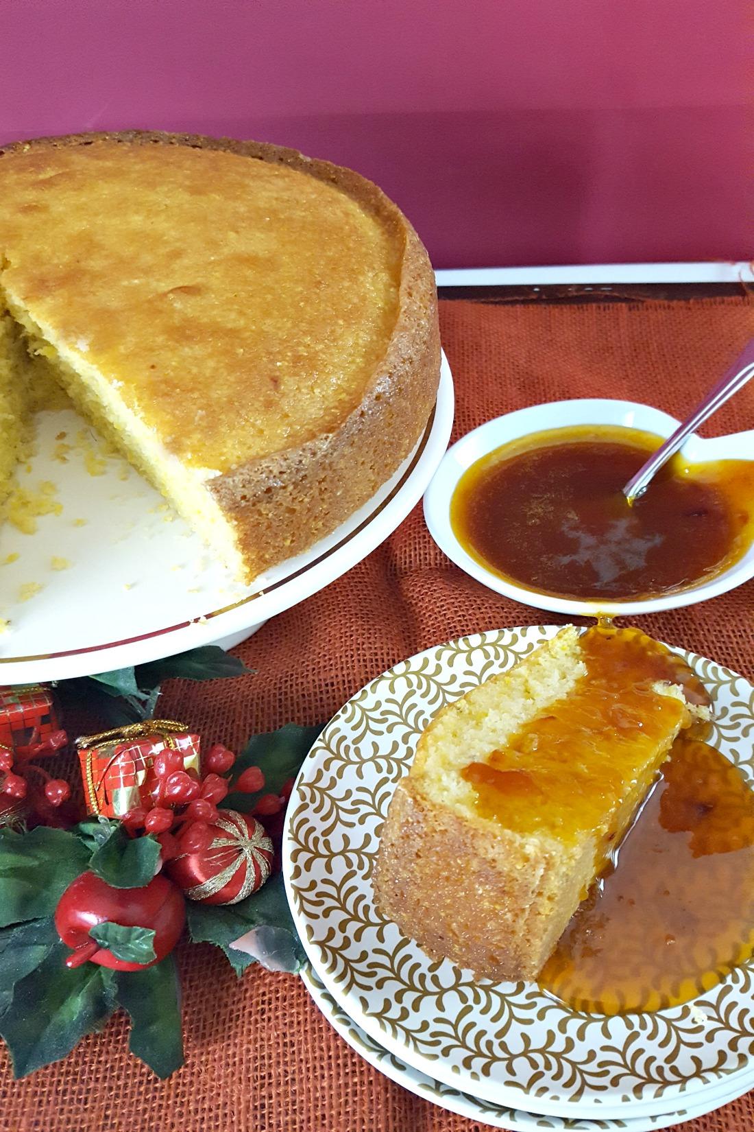 Polenta Cake with Orange Sauce