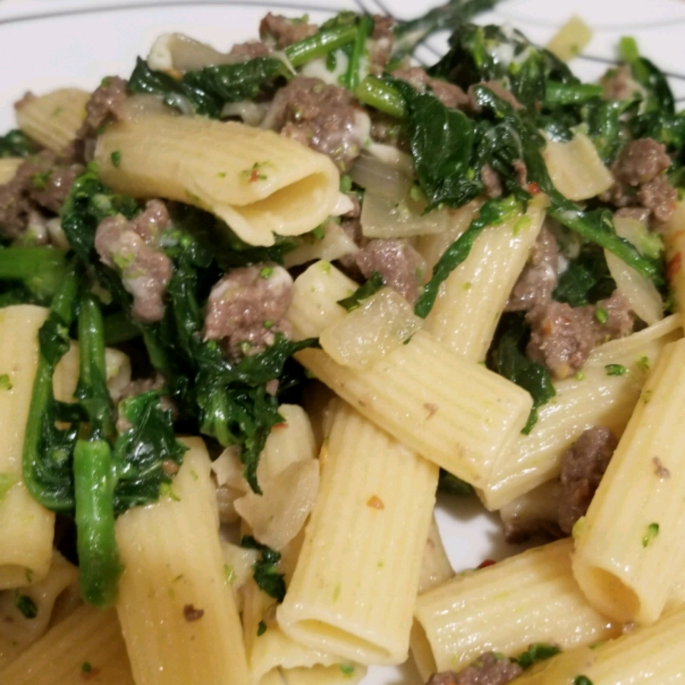 Chorizo and Broccoli Rabe Pasta chris