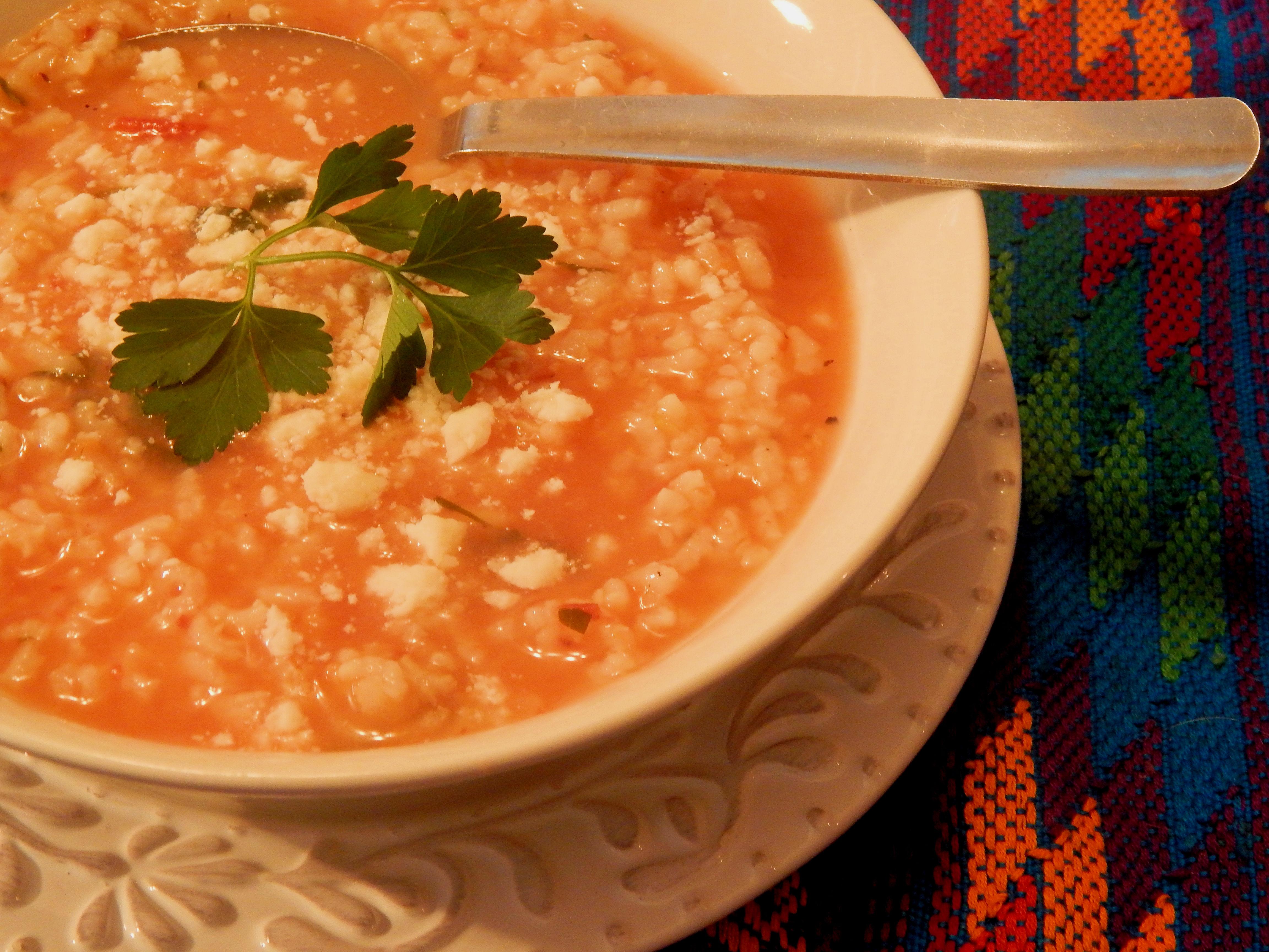 Mexican Rice Soup (Sopa Aguada de Arroz)