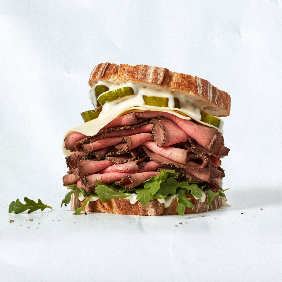 Stacked-High Roast Beef Sandwich