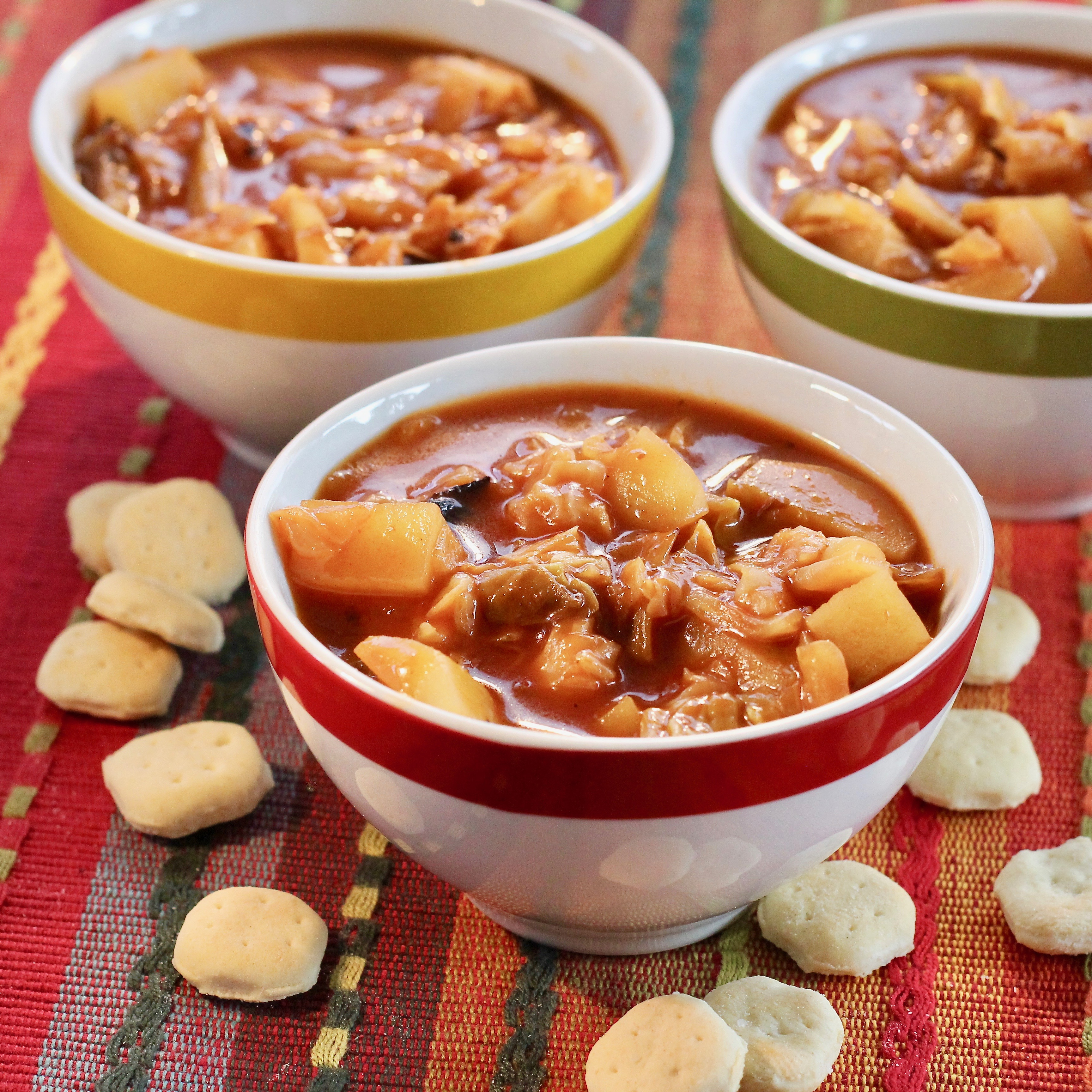 Spicy Tomato Cabbage Soup