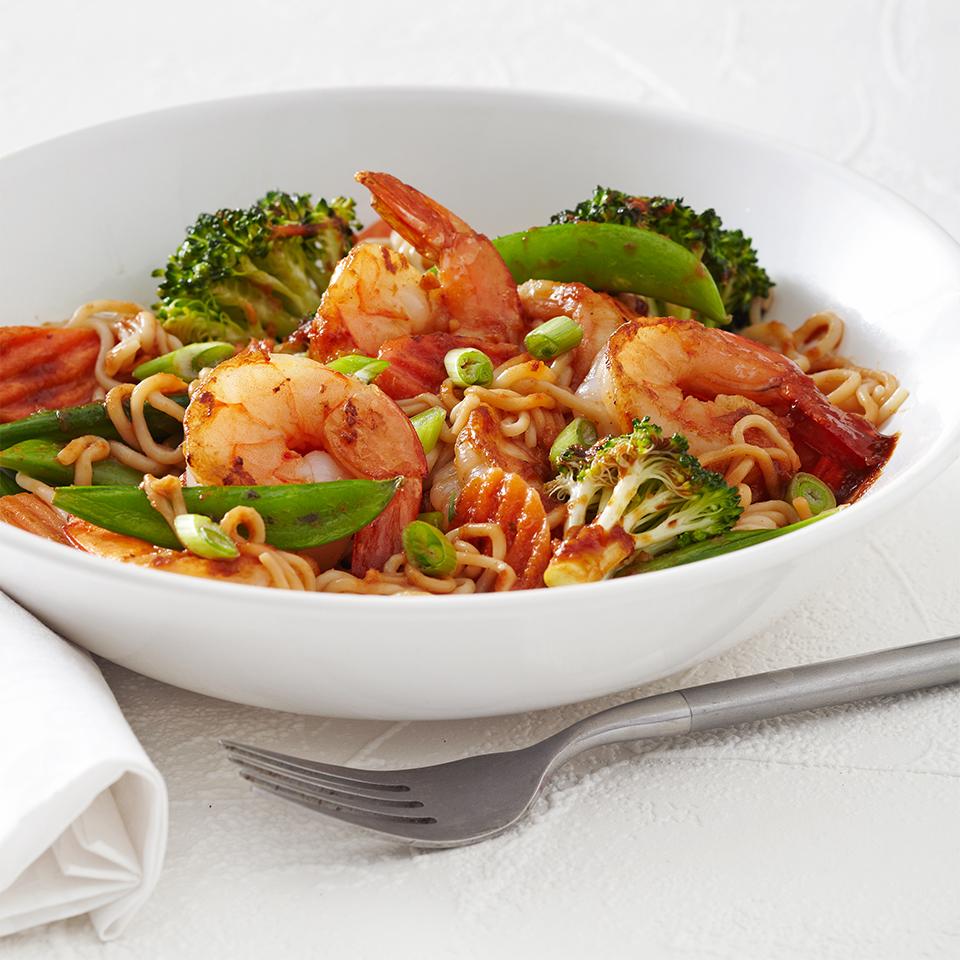 Shrimp Tofu Noodles Diabetic Living Magazine