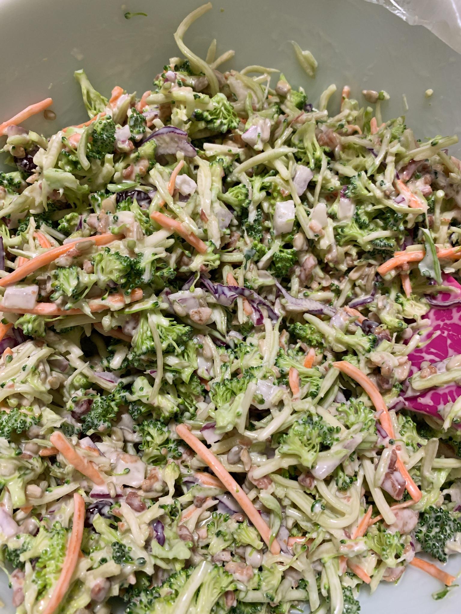 Broccoli Cranberry Salad crazyoldkels