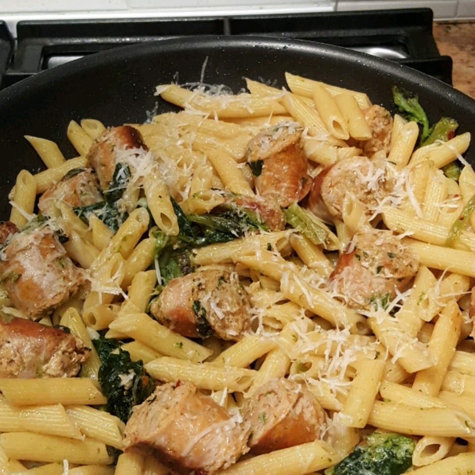 Penne with Sausage and Broccoli Rabe Angela