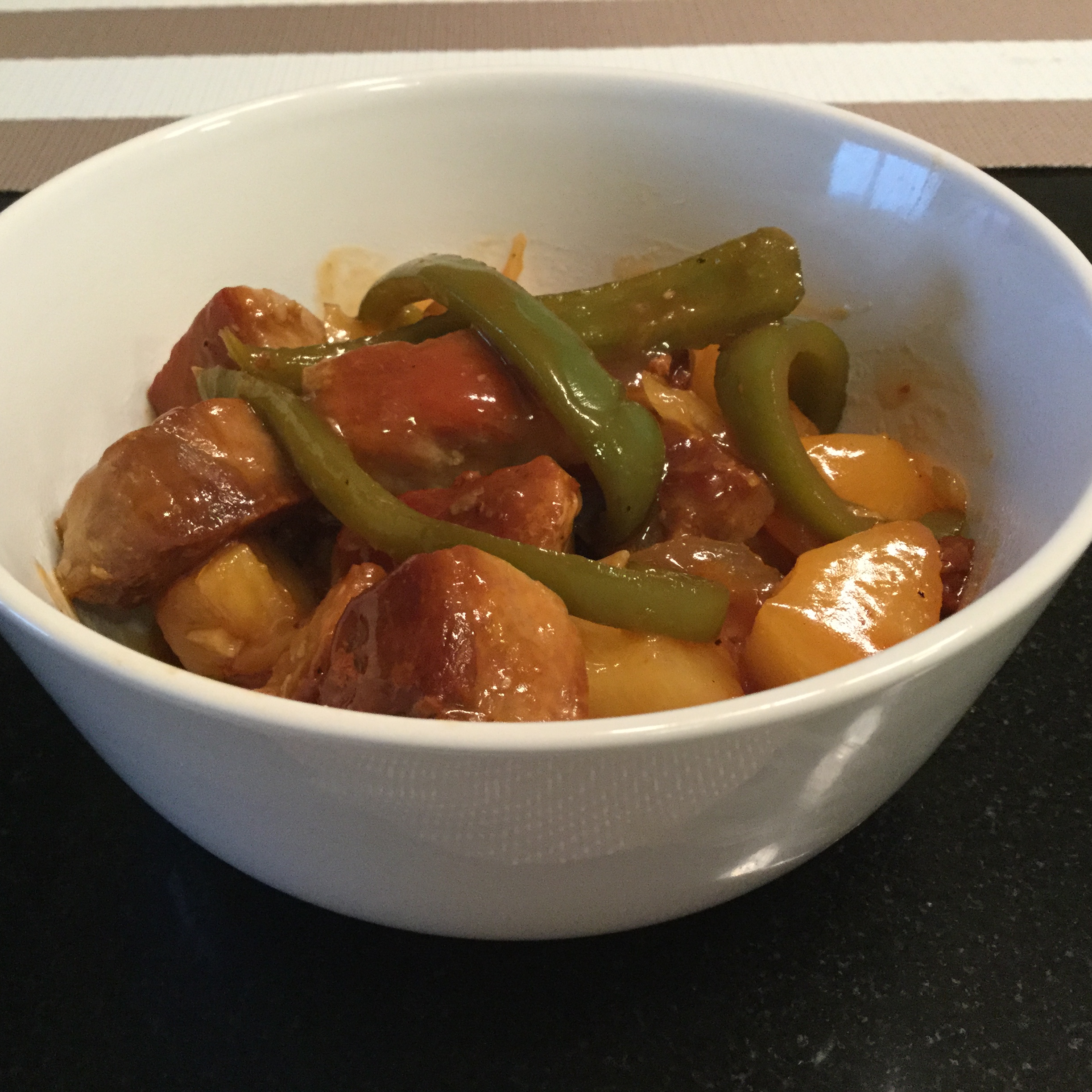 Sweet and Sour Pepper Pork Satine