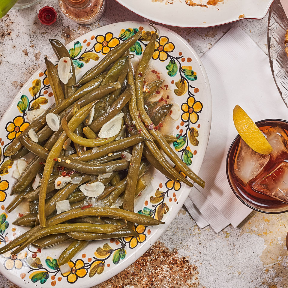 Modern cooking may champion barely cooked, tender-crisp veggies, but the soft and luscious ones you find in many Southern kitchens, like these super-soft green beans, make a mouthwatering healthy side dish to classic Southern barbecue.