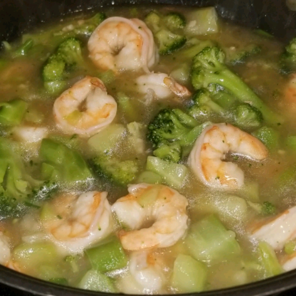 Shrimp with Broccoli in Garlic Sauce