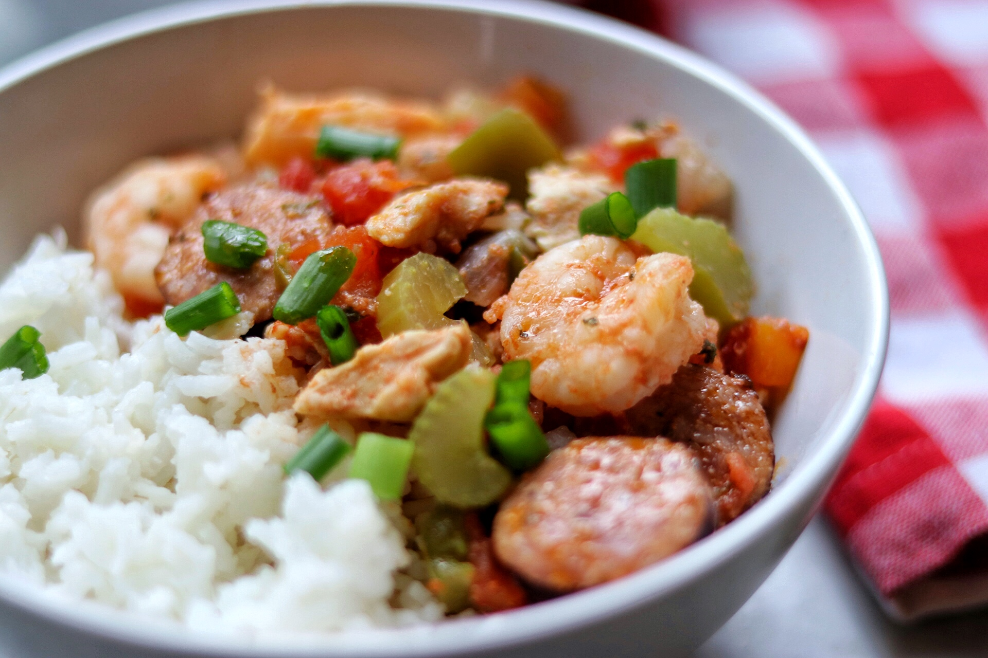 Instant Pot(R) Jambalaya with Shrimp and Chicken