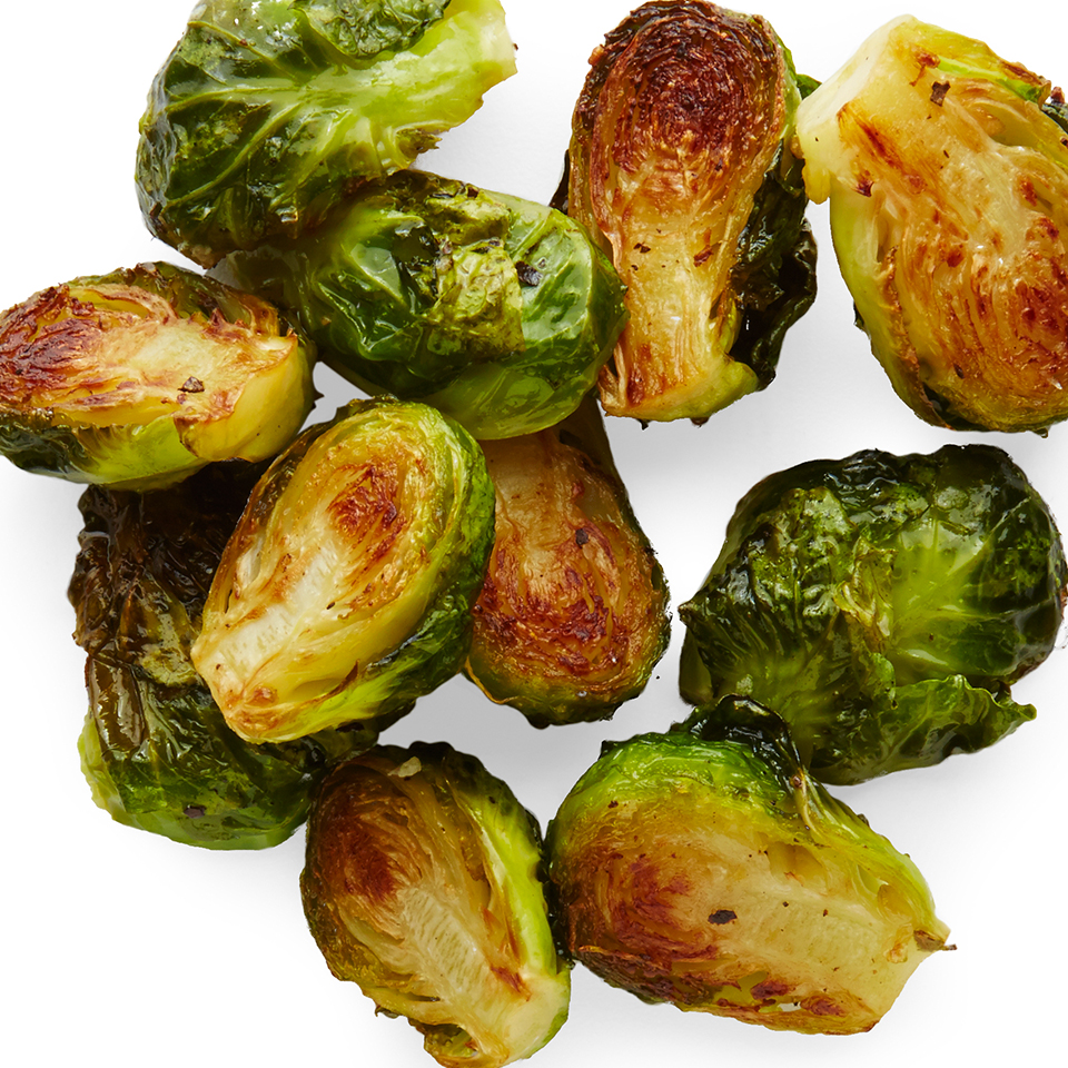 Brussels sprouts have surged in popularity recently and it's easy to understand why. They're high in nutrients while low in calories and can be prepared quickly in a variety of ways—baked, steamed and even eaten raw! This simple side dish recipe serves up roasted sprouts seasoned with just a touch of olive oil, salt and pepper.