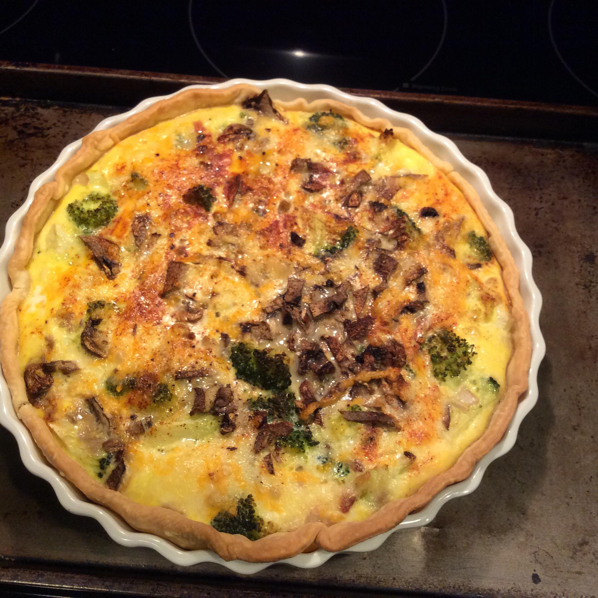 Easy Broccoli and Ham Quiche