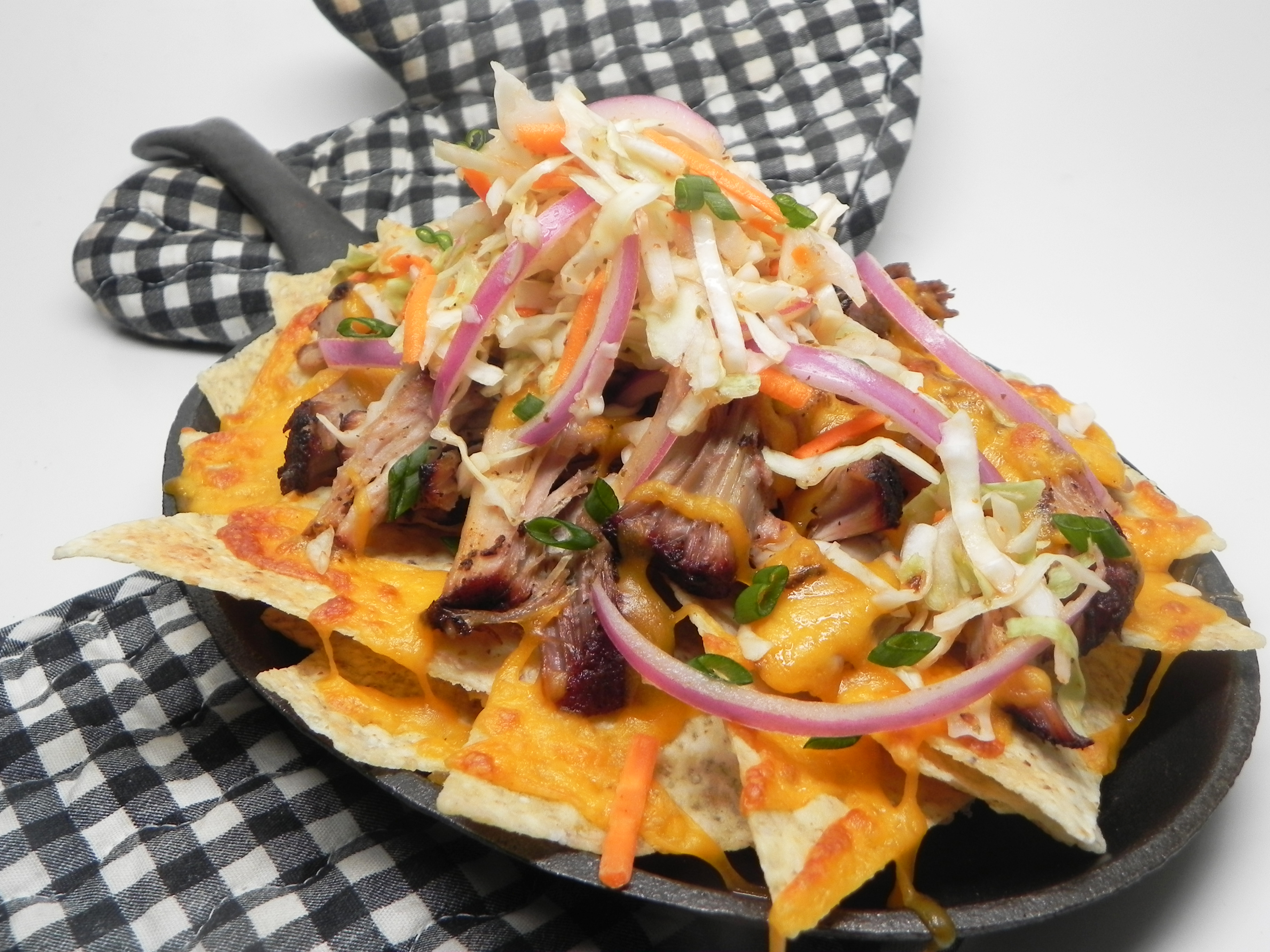 Pulled Pork Nachos with Sriracha Slaw