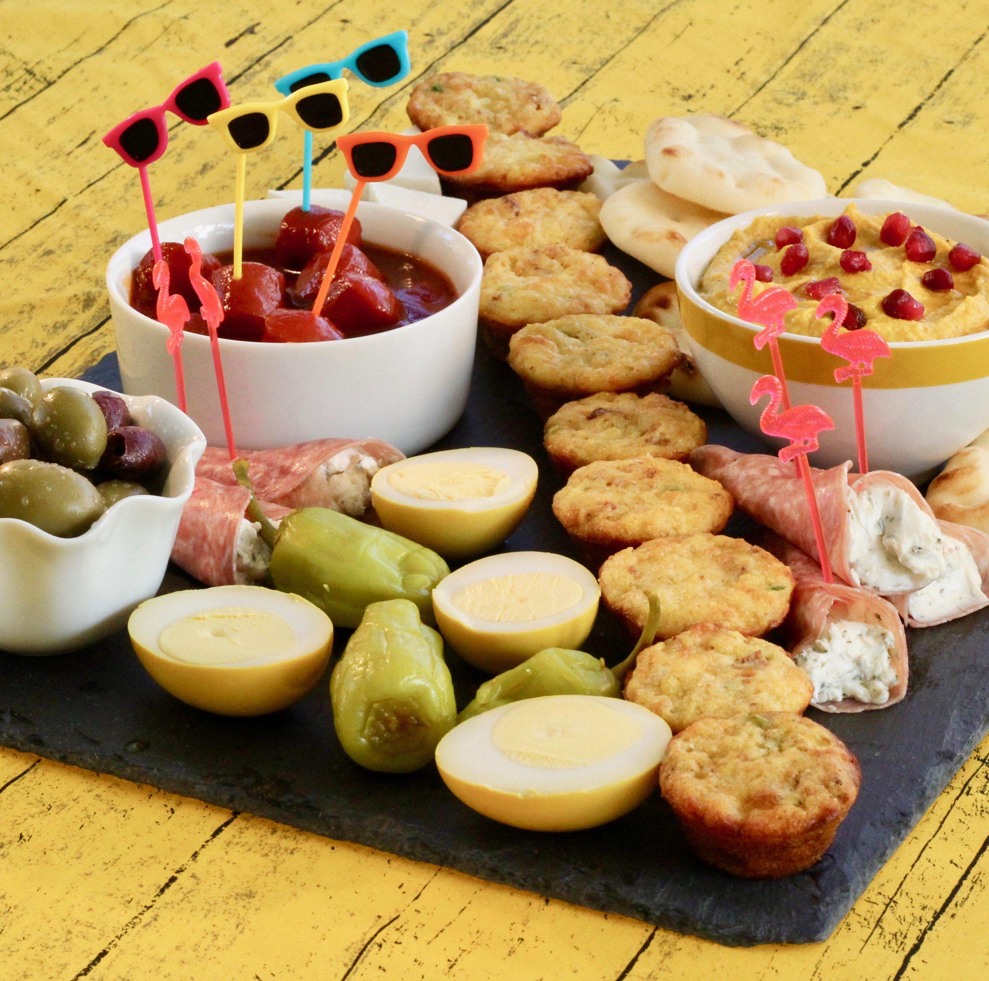 """Let Game Day Begin"" Snack Board"