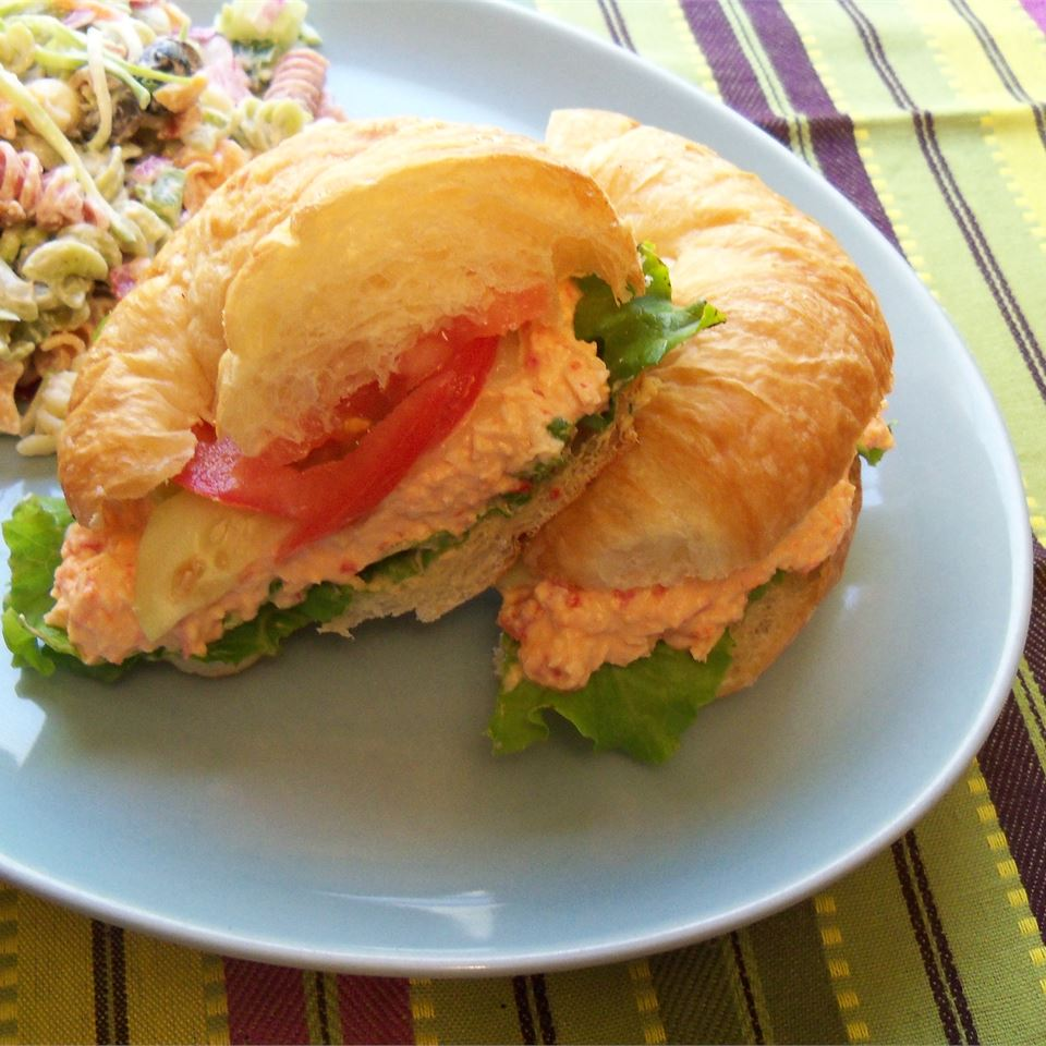 Chicken and Red Bell Pepper Salad Sandwiches katie_luvs2bake!