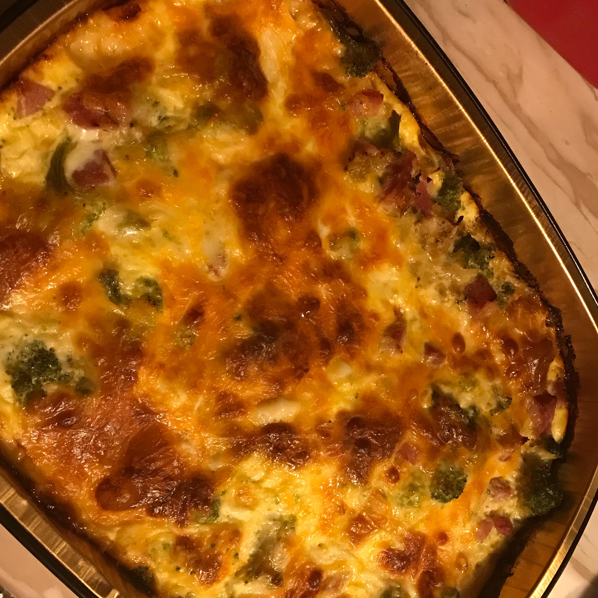 Easy Broccoli and Ham Quiche Danielle Cloos