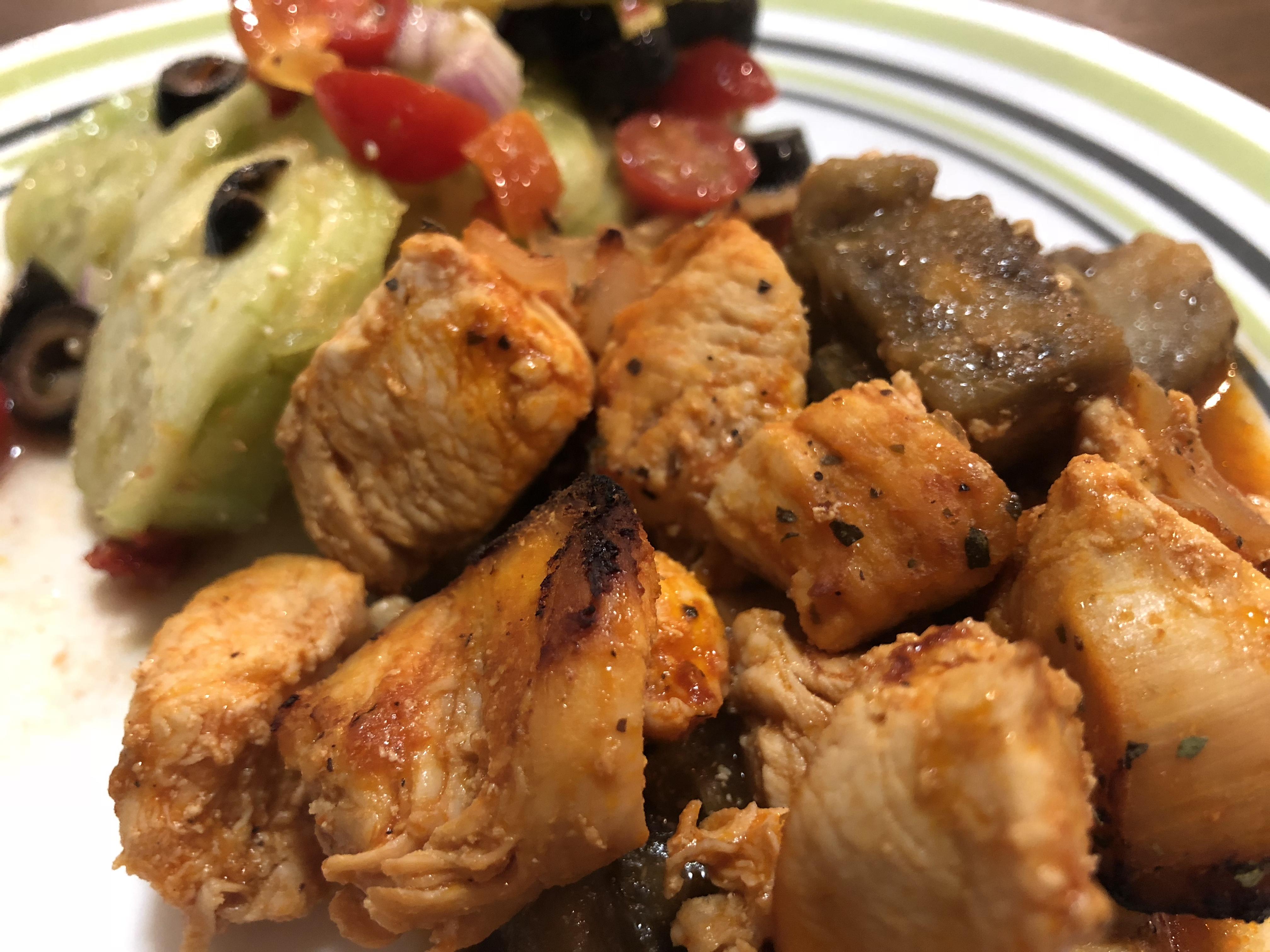 Mediterranean Chicken with Eggplant Wendersis