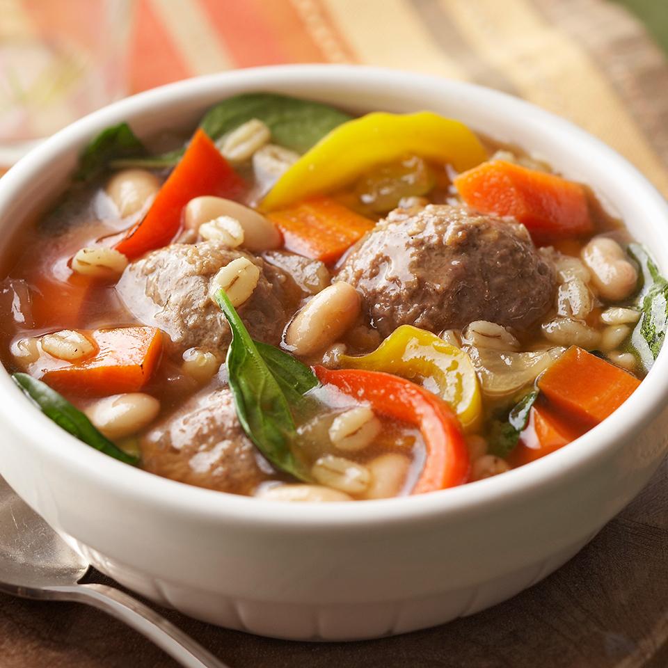 Meatball-Barley Soup Diabetic Living Magazine