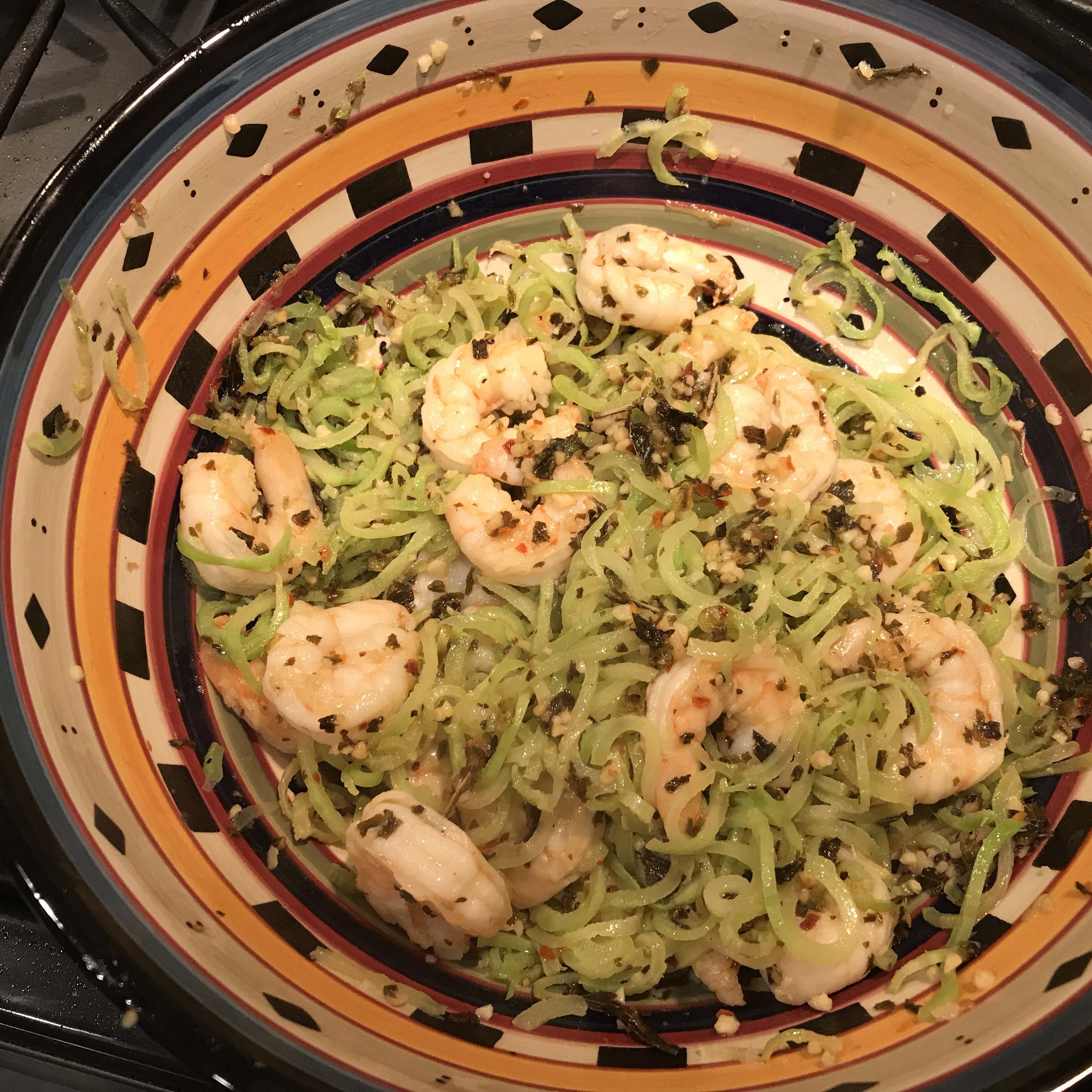 Keto Shrimp Scampi with Broccoli Noodles Mike Wallace