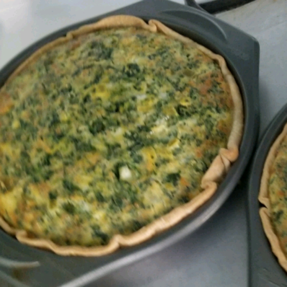 Green Chile Spinach Quiche Ashley Lamb