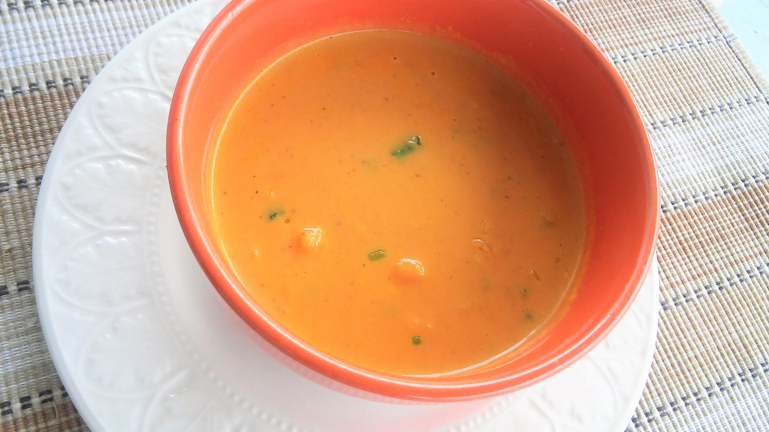 Pumpkin and Shrimp Soup