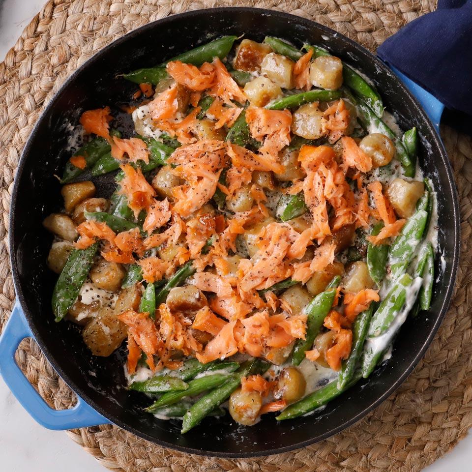 Creamy Salmon & Sugar Snap Cauliflower Gnocchi Joyce Hendley