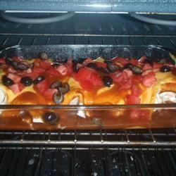 Mild Cheesy Chicken Enchiladas