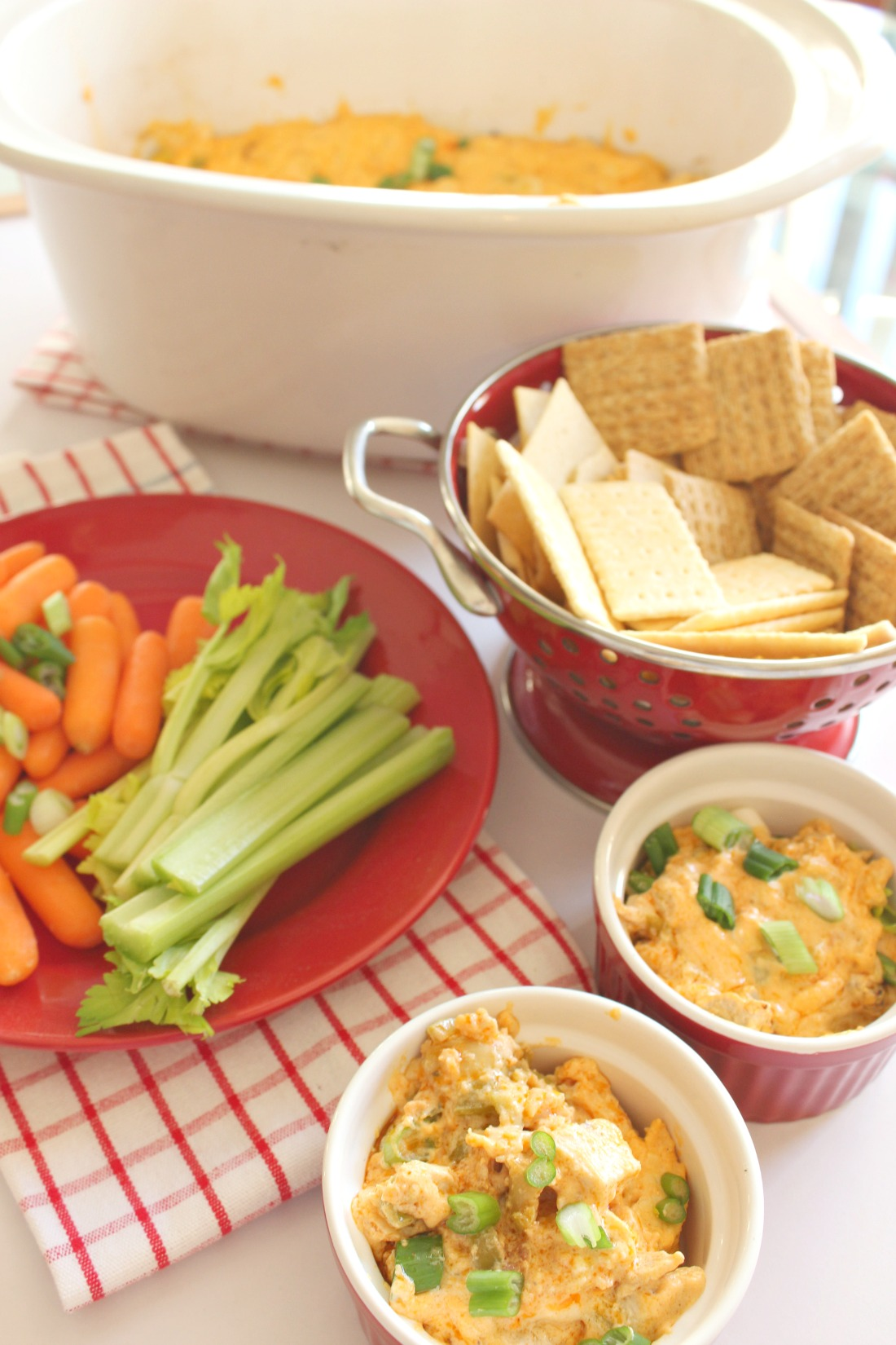 Buffalo Chicken Dip in the Slow Cooker