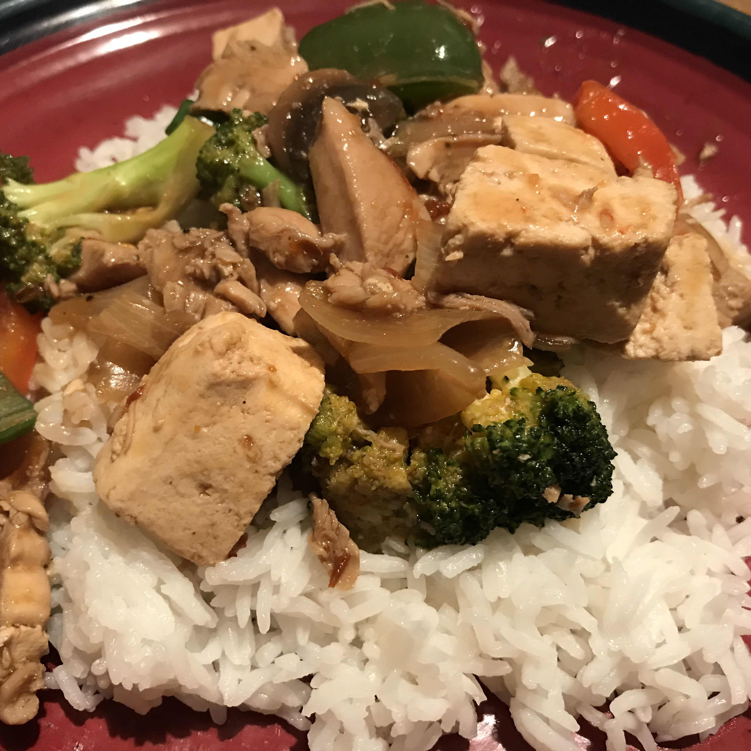Stir-Fried Chicken with Tofu and Mixed Vegetables treenlou
