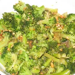 Broccoli with Garlic Butter and Cashews Tammy M Curry