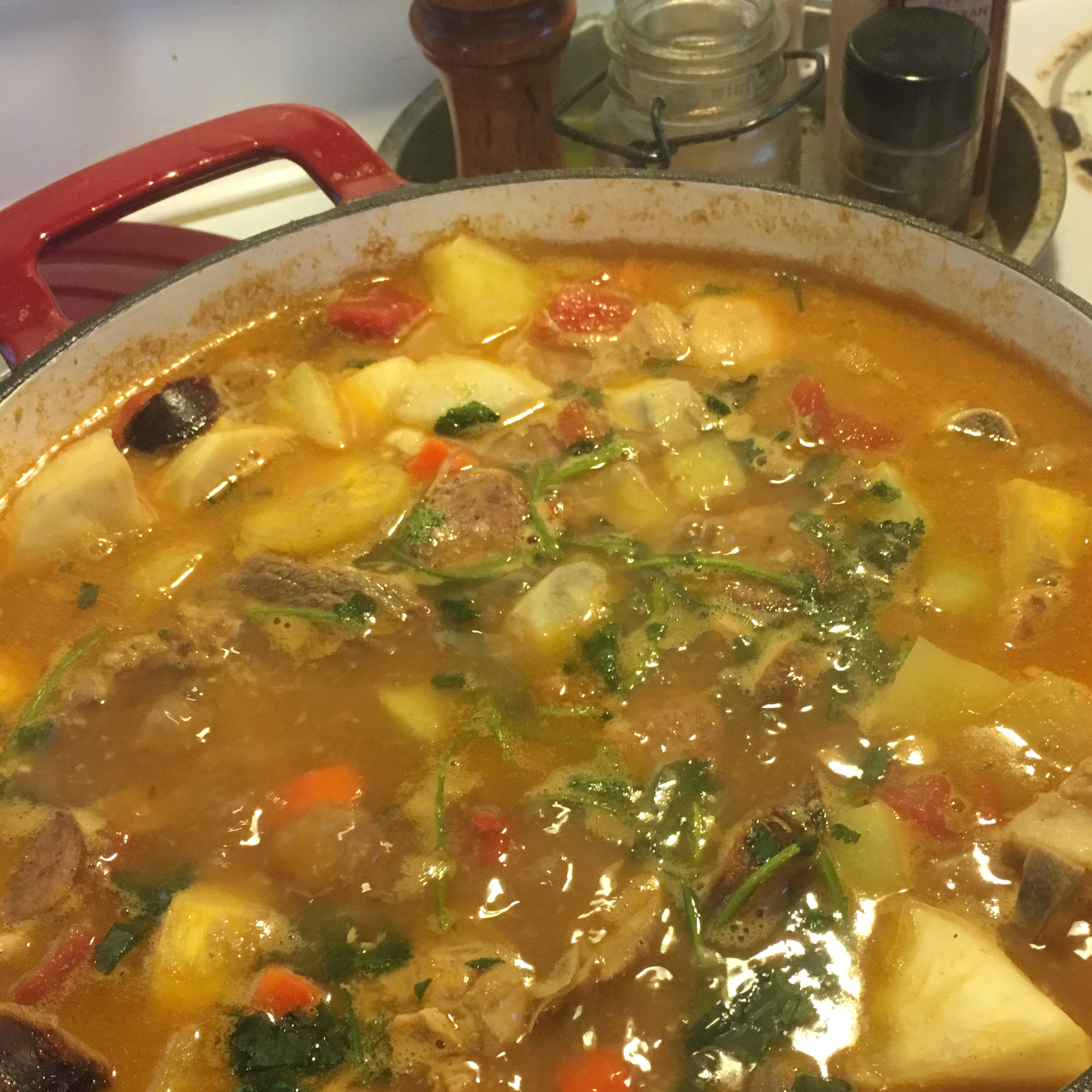 True Dominican Sancocho (Latin 7-Meat Stew)