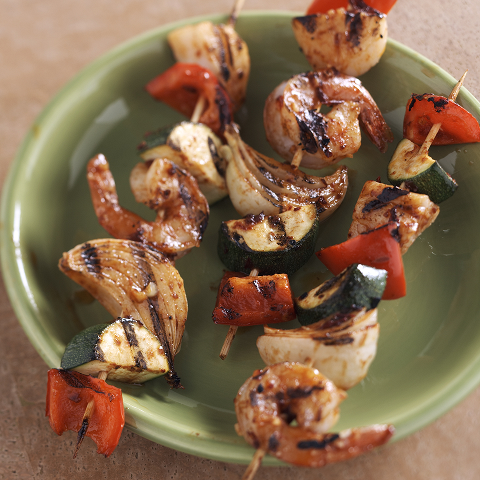 Fiery Southwestern Seafood Skewers Diabetic Living Magazine