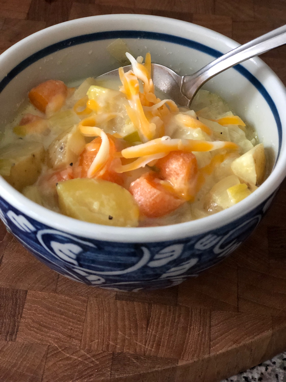 Instant Pot(R) Potato, Leek, and Carrot Soup