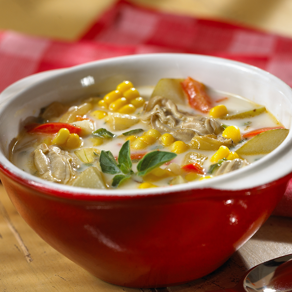 Oyster & Corn Chowder Diabetic Living Magazine