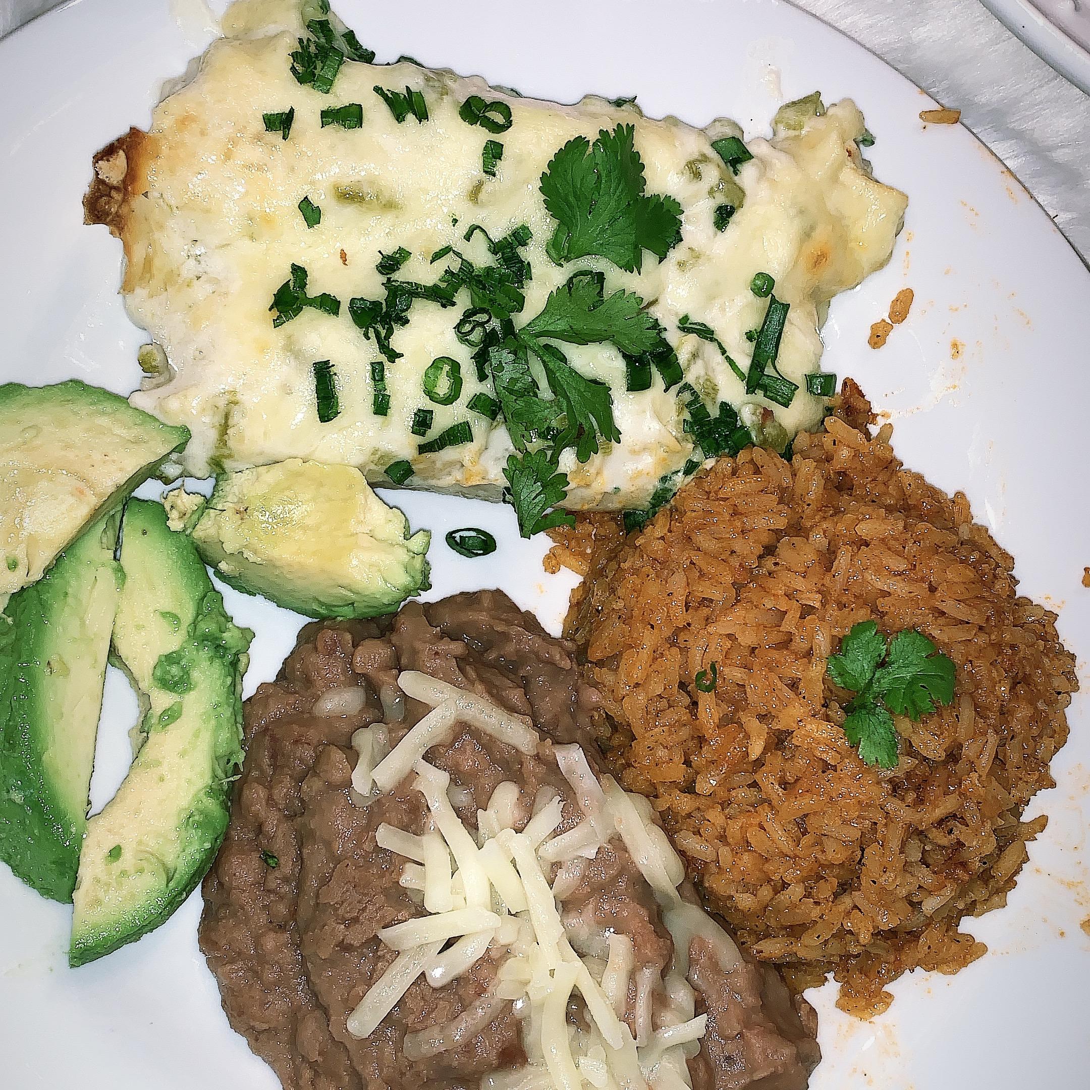 Chicken Enchiladas with Creamy Green Chile Sauce