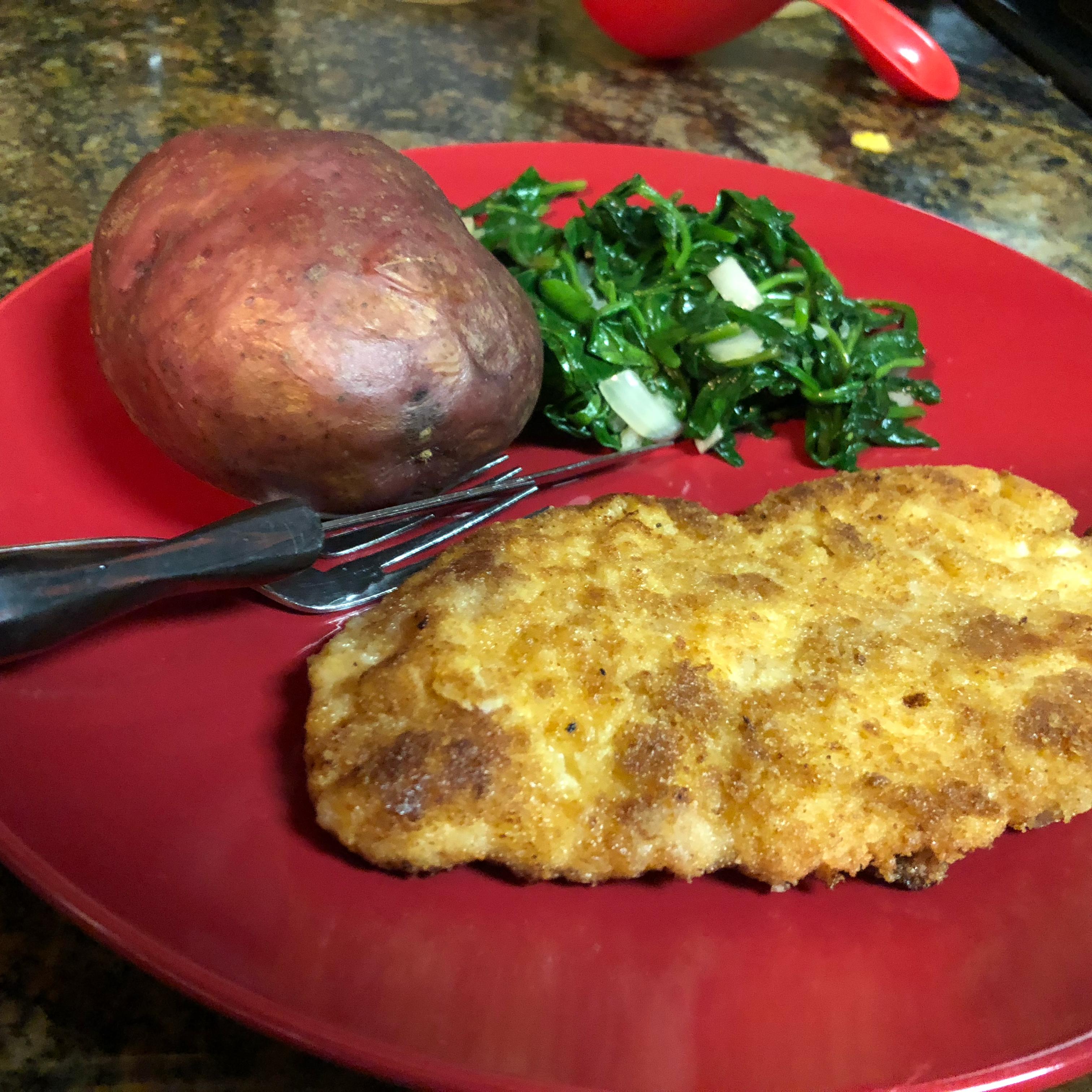 Baked Chicken Schnitzel Ericka Harris Poletti